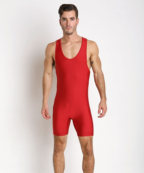 Adidas Solid Wrestling Singlet Red