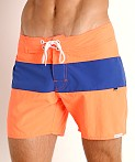 Sauvage Miami Brights Board Shorts Orange/Royal, view 3