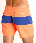 Sauvage Miami Brights Board Shorts Orange/Royal, view 4