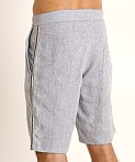 Sauvage Linen Resort Shorts Denim Heather, view 4