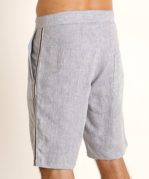 Sauvage Linen Resort Shorts Denim Heather