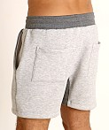 LASC Fleece Colorblock Drawstring Shorts Grey/Charcoal, view 4