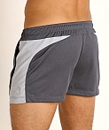 LASC Pique Mesh Lined Running Shorts Charcoal/Silver, view 4