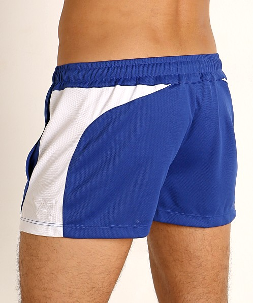 LASC Pique Mesh Lined Running Shorts Royal/White