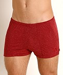 LASC Slub Jersey Workout Shorts Burgundy, view 3
