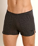 LASC Slub Jersey Workout Shorts Charcoal, view 3