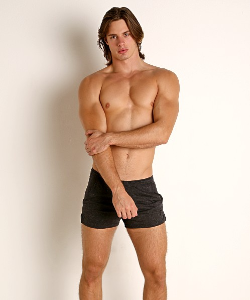 LASC Slub Jersey Workout Shorts Charcoal