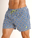 Hugo Boss Palmfish Swim Shorts Navy Stripes, view 3