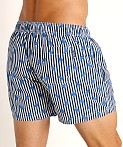 Hugo Boss Palmfish Swim Shorts Navy Stripes, view 4