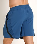 Under Armour Launch 7'' Short Petrol Blue/Reflective, view 4