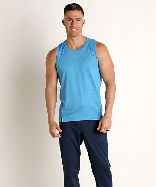 Under Armour Qualifier Tank Top Ether Blue/Reflective