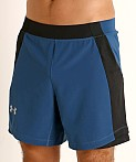 Under Armour Qualifier Speedpocket 7'' Short Petrol Blue/Reflect, view 3