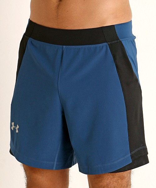 Under Armour Qualifier Speedpocket 7'' Short Petrol Blue/Reflect