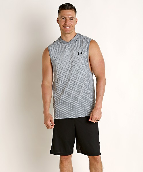Under Armour Vanish Seamless Sleeveless Hoodie Mod Gray/Black