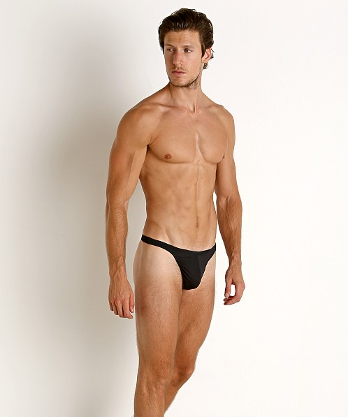 LASC Brazil Mesh Swim Thong Black