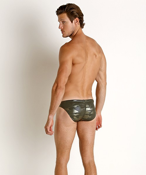 LASC St. Tropez Low Rise Swim Brief Green Camo