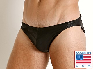 LASC St. Tropez Low Rise Swim Brief Black Camo