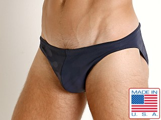 LASC St. Tropez Low Rise Swim Brief Navy Camo