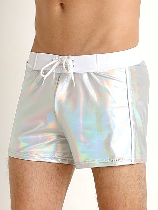 You may also like: Sauvage Silver Shine Nylon Lycra Swim Trunk Shiny Silver
