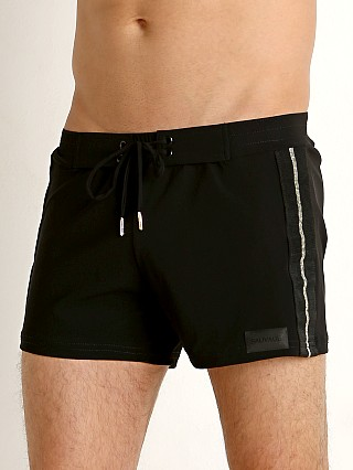You may also like: Sauvage Retro Lycra Metallic Stripe Swim Trunk Black/Gold