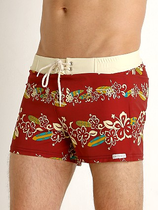 You may also like: Sauvage Retro Vibe Aloha Swim Trunk Crimson