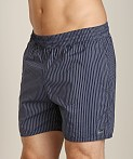 Sauvage Seersucker Nylon Euro Beach Short Midnight, view 3