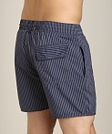 Sauvage Seersucker Nylon Euro Beach Short Midnight, view 4