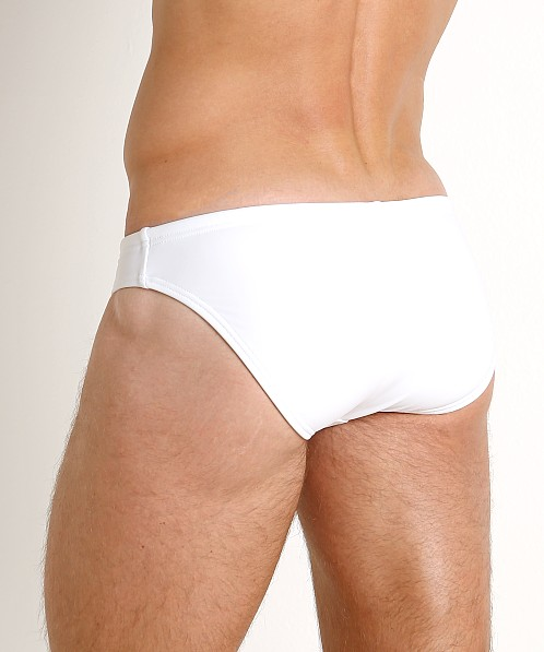 "Speedo PowerFlex Eco Solar 1"" Swim Brief White"
