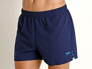 "Complete the look: Speedo 4"" Solid Surf Runner Swim Shorts Navy"