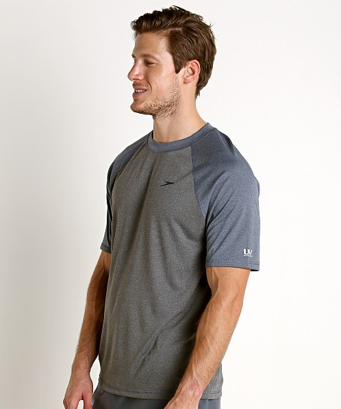 Speedo Heather Sun Block Swim Tee Heather/Blue