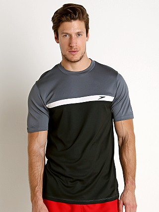 Speedo Colorblock Sun Block Swim Tee Speedo Black