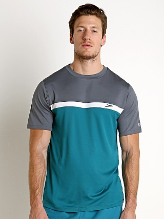 Speedo Colorblock Sun Block Swim Tee Ocean Depths