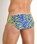 Speedo Modern Matrix Swim Brief Sapphire/Gold, view 4