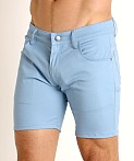LASC Cotton Twill 5-Pocket Shorts Sky, view 3