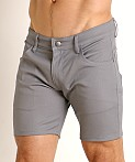 LASC Cotton Twill 5-Pocket Shorts Grey, view 3