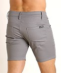 LASC Cotton Twill 5-Pocket Shorts Grey, view 4