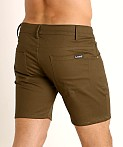 LASC Cotton Twill 5-Pocket Shorts Olive, view 4