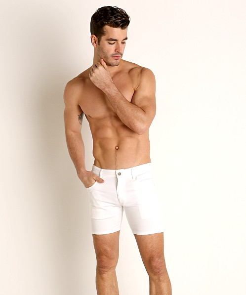 LASC Cotton Twill 5-Pocket Shorts White