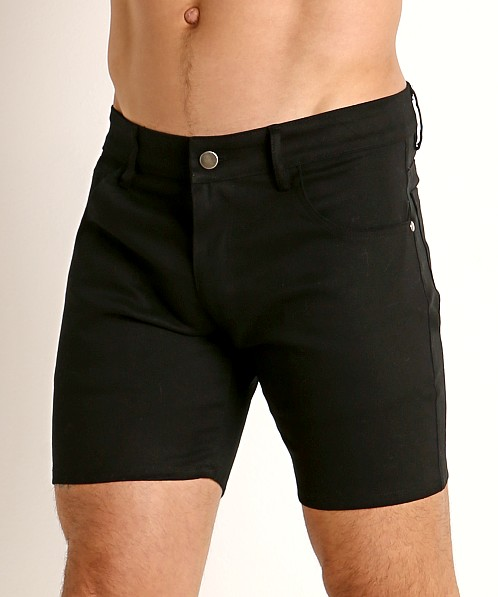 LASC Cotton Twill 5-Pocket Shorts Black