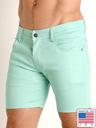 LASC Cotton Twill 5-Pocket Shorts Ocean