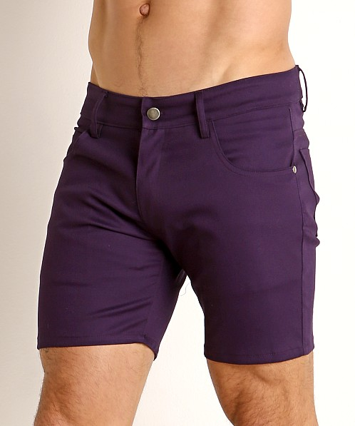 LASC Cotton Twill 5-Pocket Shorts Eggplant