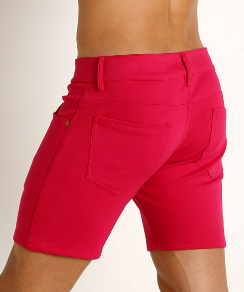 LASC Stretch Jersey 5-Pocket Shorts Fuchsia