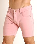 LASC Stretch Jersey 5-Pocket Shorts Dusty Rose, view 3