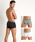 Hugo Boss Cotton Stretch Trunks 3-Pack White/Grey/Black, view 1