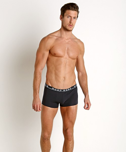 Hugo Boss Cotton Stretch Trunks 3-Pack White/Grey/Black