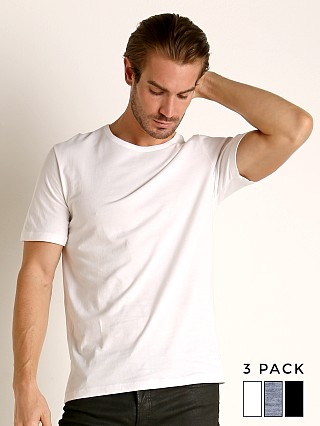 Hugo Boss 100% Cotton T-Shirt 3-Pack White/Grey/Black