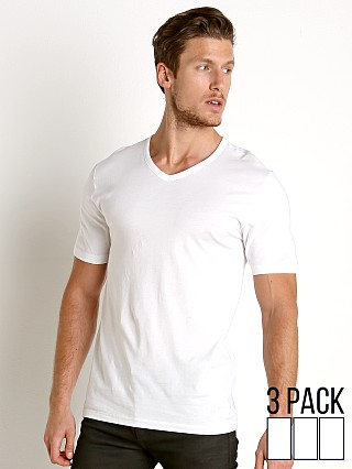 Hugo Boss 100% Cotton V-Neck Shirt 3-Pack White