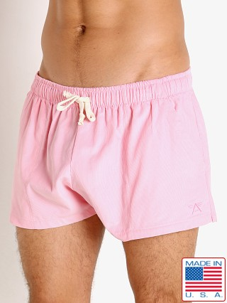 Model in pink LASC Lightweight Corduroy Shorts