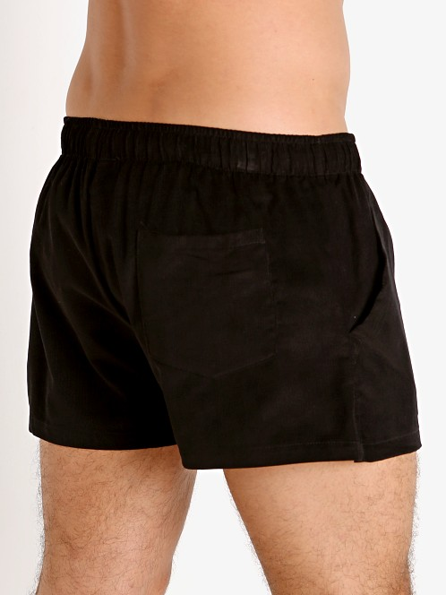 LASC Lightweight Corduroy Shorts Black
