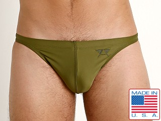 LASC Super Low Rise Solid Swim Brief Army Olive
